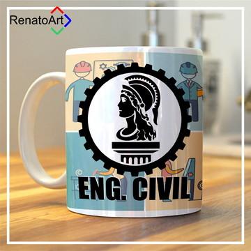 Caneca Temática Engenharia Civil