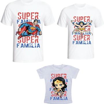 Camiseta Super Familia Kit /03 camisetas - Personalizada