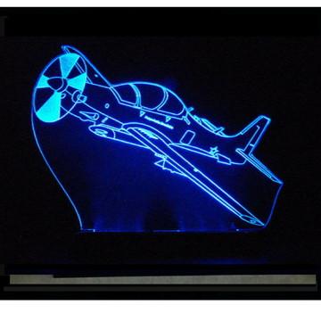 Presente Criativo Luminária Decorativa Avião Tucano EXCLUSIV