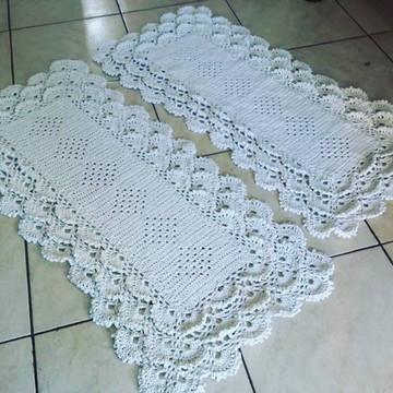 Tapete de Cozinha de crochê 4 peças