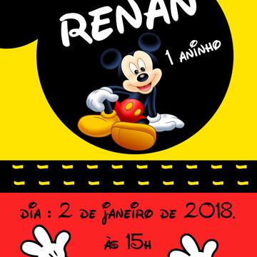 convite digital Mickey