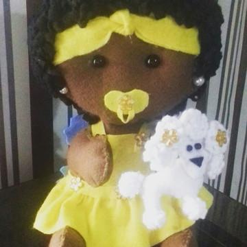 boneca bebe em feltro