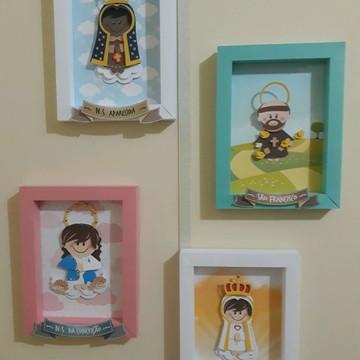 4 Quadrinhos decorativos - santinhos