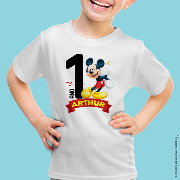 Camiseta Personalizada Infantil - Mickey