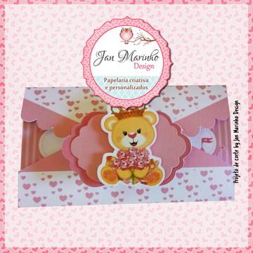 Arquivo de corte Convite e envelope infantil J
