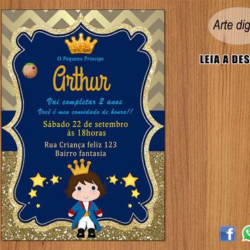 Convite O Pequeno Príncipe (digital)