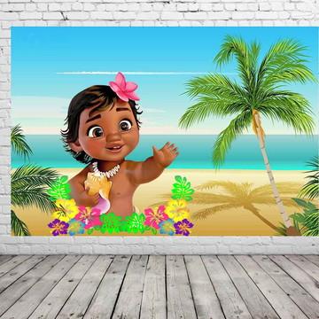 Painel de festa Moana baby