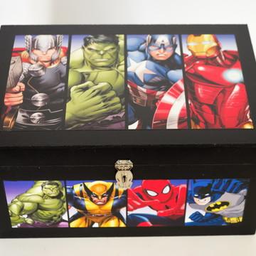 Caixa mdf Os Vingadores Modelo 3