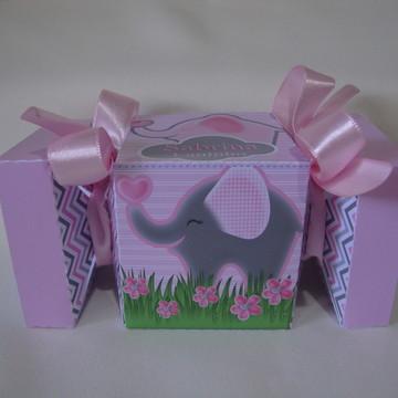 Caixa bala Elefantinha Cinza e Rosa #1