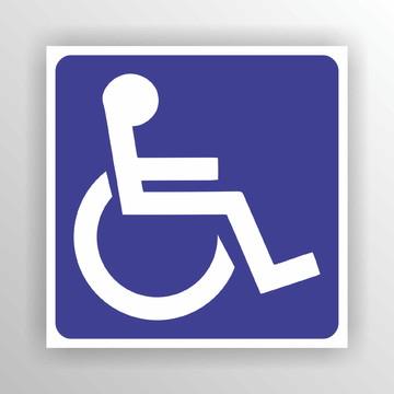 3unidade Adesivo Externo Cadeirante Deficiente 10x10cm A097