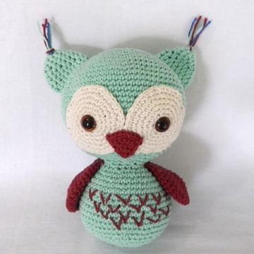 Amigurumi Coruja de Croche com enchimento siliconado