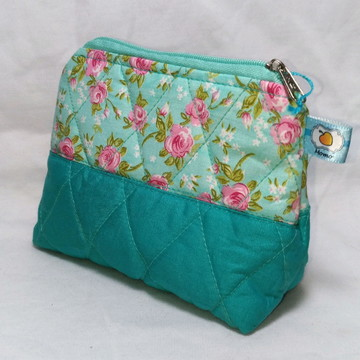 Necessaire Triangular Floral Tiffany