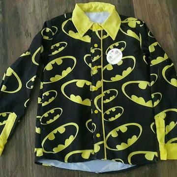 Camisa Infantil Manga longa Batman