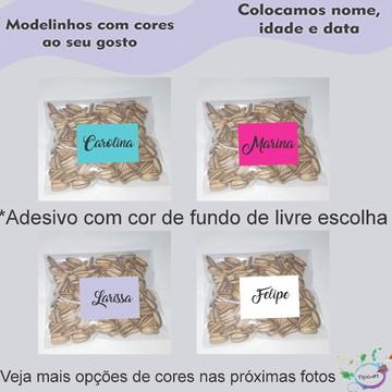 Saquinho personalizado com semente girassol/Nomes
