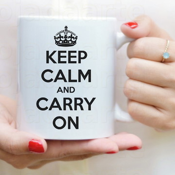 Caneca Keep calm and Carry on cód 1452s