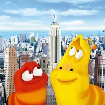 banner painel larva de new york 1,20x80cm festa