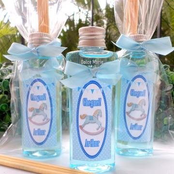 Lembrancinha de maternidade aromatizador 60ml frasco pet