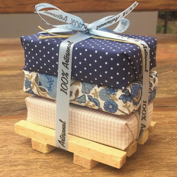 Kit de barras rústicas embrulhadas em tecido