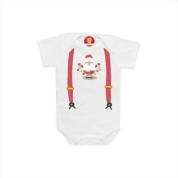 Body ou Camiseta Suspensório de Natal