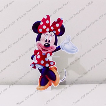 Display de mesa - Minnie Mouse - Roupa vermelha