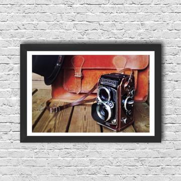 Quadro Máquina Fotográfica com moldura