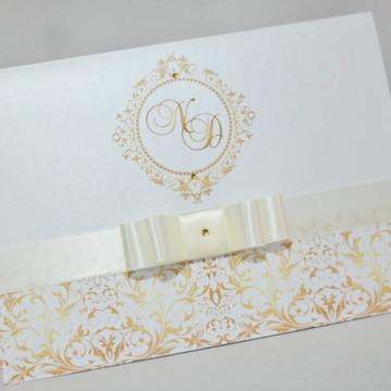 Convite Casamento Papel Aspen Brilhante