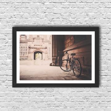 Poster Bicicleta Vintage com moldura