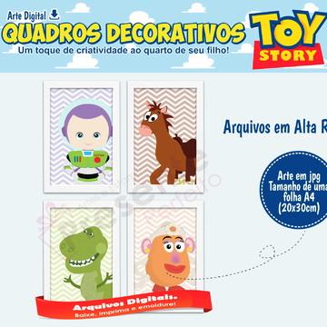Quadros decorativos Toy Story - Arte Digital