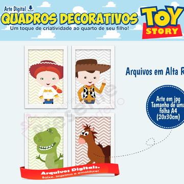 Quadros toy story quarto de menino toy story (arte digital)
