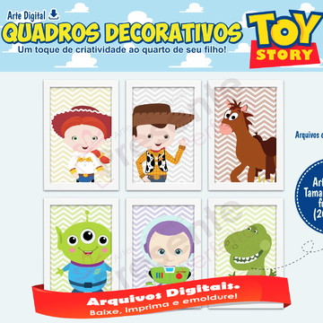 Arte digital quadros Toy story