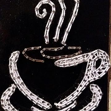 Quadro Xícara (String Art)