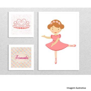 "Kit 3 quadros ""Bailarina"""