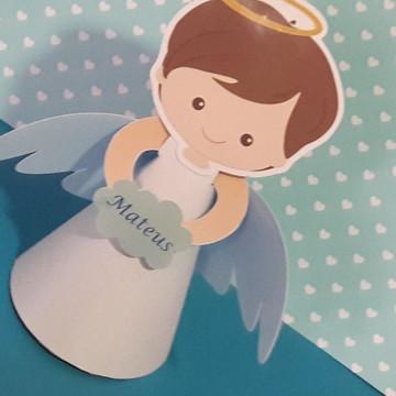 Centro de mesa batizado - centro mesa anjo