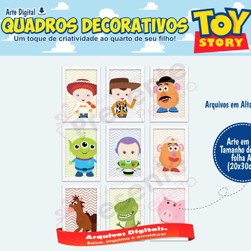 Quadro Toy Story Digital
