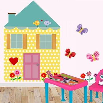 Adesivo casinha para quarto de meninas