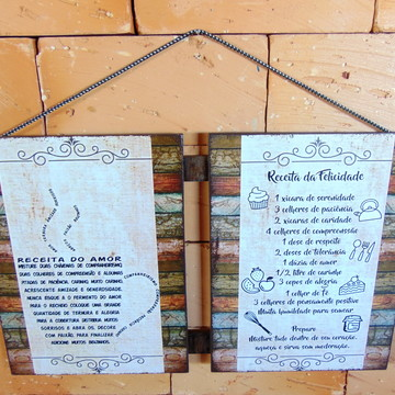 Placas Decorativas - Mensagem II