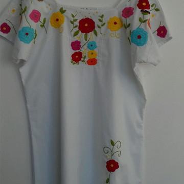 vestido bordado Mexico