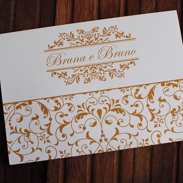 Convite Casamento - Convite 15 anos - Dourado promoção