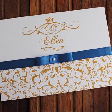 Convite 15 anos - Convite Casamento -royal dourado