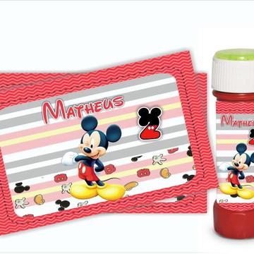 Adesivo para Bolha de Sabão Mickey