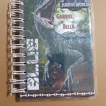 Bloco de anotações 10 x 15 Dinossauros capa dura