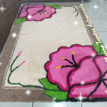 Orquídea rosa tapete para decoração da sala em frufru
