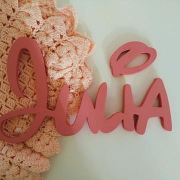 Nome em MDF Decorativo Disney Com Carinha da Minnie Julia