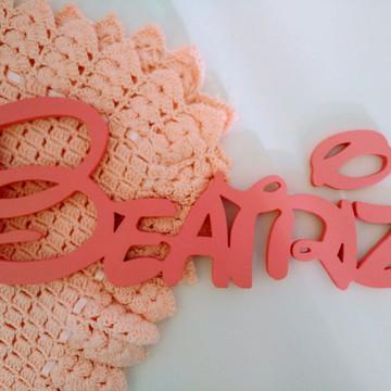 Nome em MDF Decorativo Disney Com Carinha da Minnie Beatriz