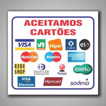 01 Unidade Adesivo Cartões De Crédito 24x21cm A101