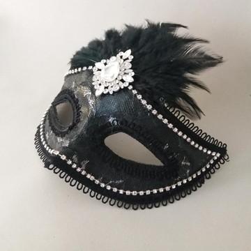 Mascara veneziana luxo strass