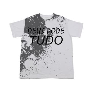 Camiseta Deus Pode Tudo Branca
