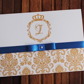 Convite 15 anos royal dourado - Convite Casamento promoção