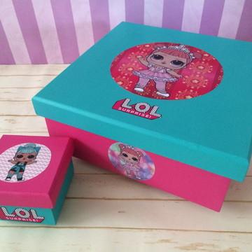 Caixa para bonecas LOL SURPRESA.