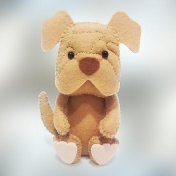 Cachorro Shar-pei grande em Feltro